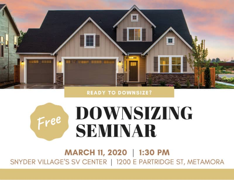 Free Downsizing Seminar