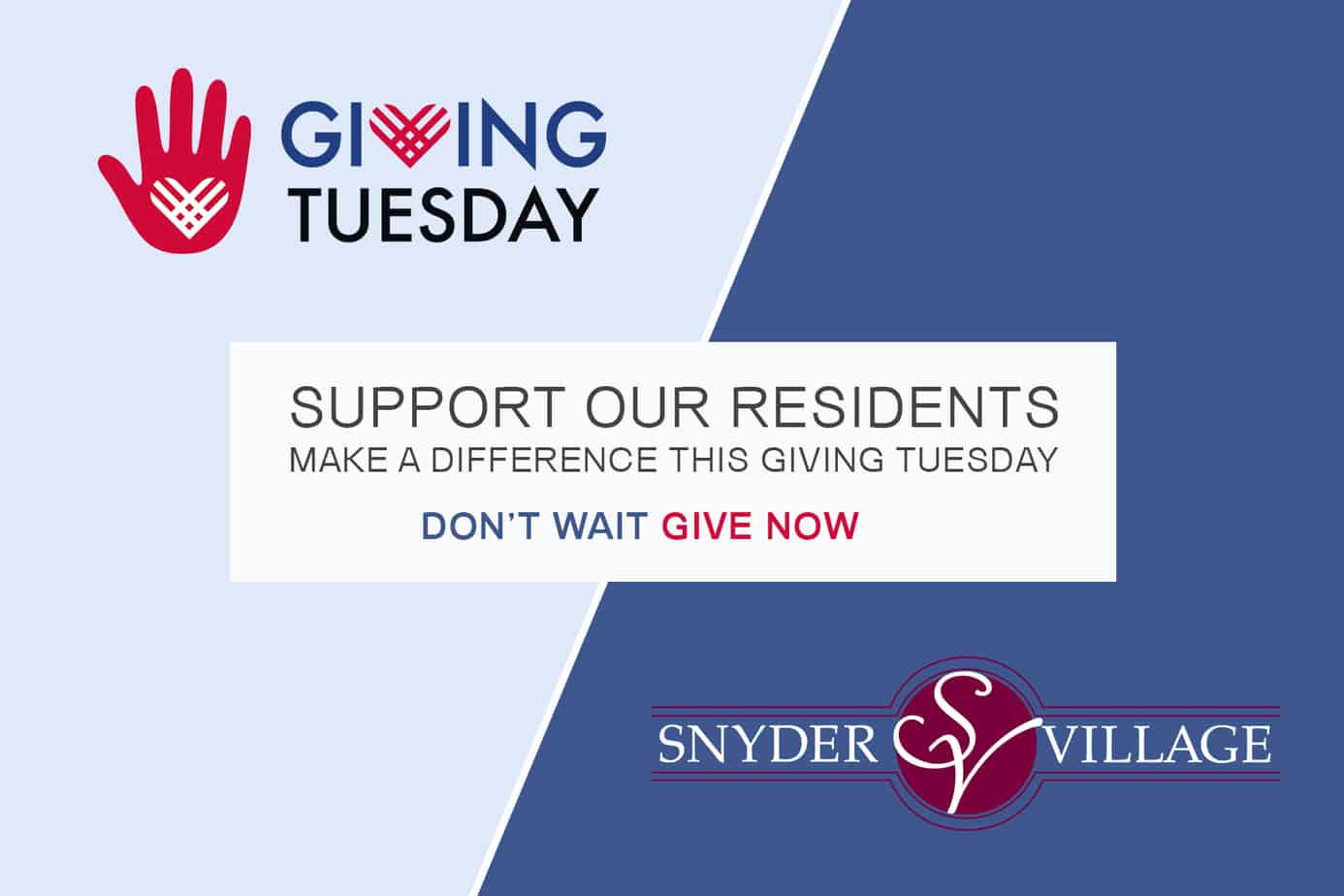 Snyder Village to Celebrate Giving Tuesday