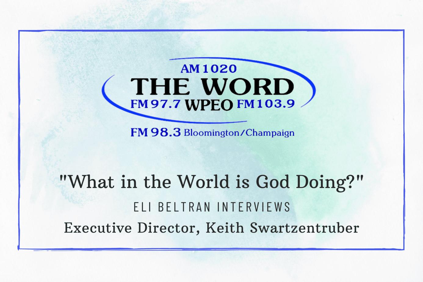 Listen Now: Keith Swartzentruber Interviewed on WPEO Radio